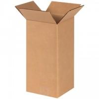 "Corrugated Boxes, 6 x 6 x 12"", Kraft"
