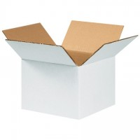 "Corrugated Boxes, 6 x 6 x 4"", White"