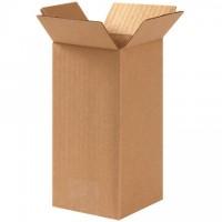 "Corrugated Boxes, 4 x 4 x 8"", Kraft"