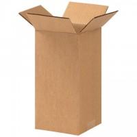"Corrugated Boxes, 4 x 4 x 9"", Kraft"