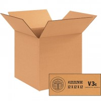 """Weather Resistant Corrugated Boxes, 12 x 12 x 12"""", V3c - 350 #"""