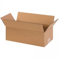 "Corrugated Boxes, 12 x 6 x 4"", Kraft"