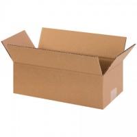 "Corrugated Boxes, 12 x 5 x 4"", Kraft"