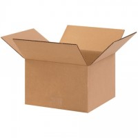 "Corrugated Boxes, 10 x 10 x 6"", Kraft"