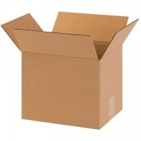 "Corrugated Boxes, 10 x 8 x 10"", Kraft"