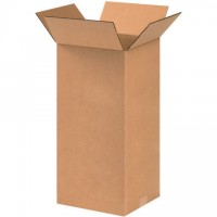 "Corrugated Boxes, 9 x 9 x 18"", Kraft"