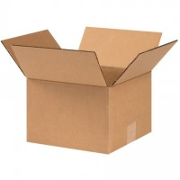 "Corrugated Boxes, 9 x 9 x 6"", Kraft"