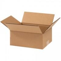 "Corrugated Boxes, 9 x 7 x 3"", Kraft, Flat"