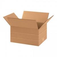 "Corrugated Boxes, Multi-Depth, 11 1/4 x 8 3/4 x 6"", Kraft"
