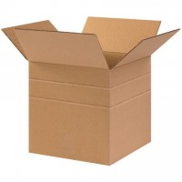 "Corrugated Boxes, 10 x 10 x 10"", Multi-Depth, Cube"