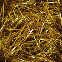 Crinkle Paper, Gold Metallic,