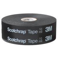 """3M 50 All-Weather Corrosion Protection Tape, 2"""" x 100', Black"""