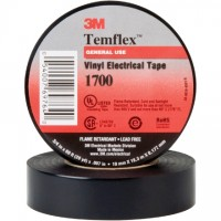 "3M 1700 Electrical Tape, 3/4"" x 60', Black"