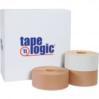 "Heavy Duty Water Activated Kraft Sealing Tape, 3"" x 450'"