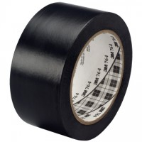 "3M 764 Black Vinyl Tape, 1"" x 36 yds., 5 Mil Thick"