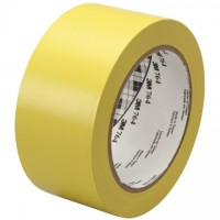 "3M 764 Yellow Vinyl Tape, 1"" x 36 yds., 5 Mil Thick"