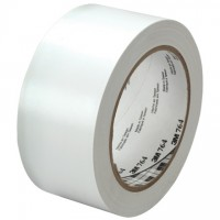 "3M 764 White Vinyl Tape, 1"" x 36 yds., 5 Mil Thick"