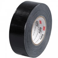 "3M 6969 Black Duct Tape, 2"" x 60 yds., 10.7 Mil Thick"