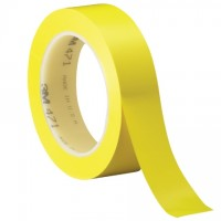 "3M 471 Yellow Vinyl Tape, 1"" x 36 yds., 5.2 Mil Thick"