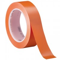 "3M 471 Orange Vinyl Tape, 1"" x 36 yds., 5.2 Mil Thick"