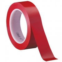 "3M 471 Red Vinyl Tape, 1"" x 36 yds., 5.2 Mil Thick"