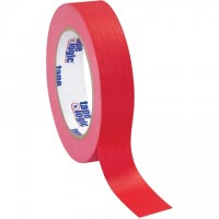 "Red Masking Tape, 1"" x 60 yds., 4.9 Mil Thick"