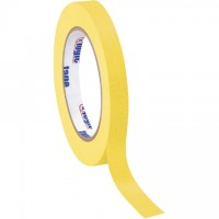 "Yellow Masking Tape, 1/2"" x 60 yds., 4.9 Mil Thick"