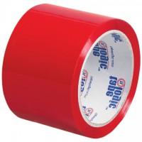 "Red Carton Sealing Tape, 3"" x 55 yds., 2.2 Mil Thick"