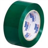 "Green Carton Sealing Tape, 2"" x 110 yds., 2.2 Mil Thick"