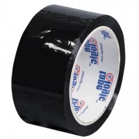 "Black Carton Sealing Tape, 2"" x 55 yds., 2.2 Mil Thick"