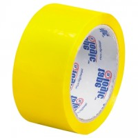 "Yellow Carton Sealing Tape, 2"" x 55 yds., 2.2 Mil Thick"