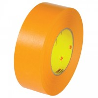 "3M 2525 Orange Flatback Masking Tape, 2"" x 60 yds., 9.5 Mil Thick"