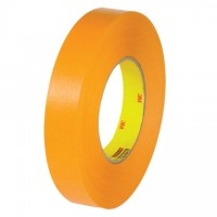 "3M 2525 Orange Flatback Masking Tape, 1"" x 60 yds., 9.5 Mil Thick"