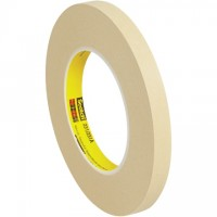 "3M 231 Masking Tape, 1/2"" x 60 yds., 7.6 Mil Thick"