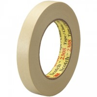 "3M 2308 Masking Tape, 3/4"" x 60 yds., 5.5 Mil Thick"