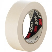 "3M 201+ Masking Tape, 1/2"" x 60 yds., 4.4 Mil Thick"