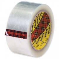 "3M 375 Tape, Clear, 2"" x 55 yds., 3.1 Mil Thick"