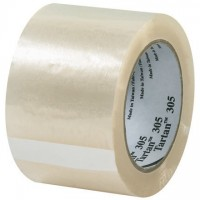 """3M 305 Tape, Clear, 3"""" x 110 yds., 1.8 Mil Thick"""