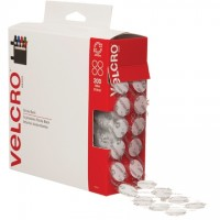 "VELCRO® Hook and Loop, Combo Pack, Dots, 3/4"", White"
