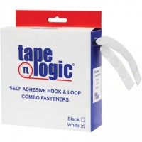 "Hook and Loop, Combo Pack, Dots, 1/2"", White"