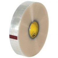 """Clear Machine Carton Sealing Tape, 3M, 2"""" x 1000 yds., 2.2 Mil Thick"""