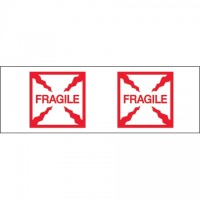 """Fragile (Box) Tape, 2"""" x 55 yds., 2.2 Mil Thick"""