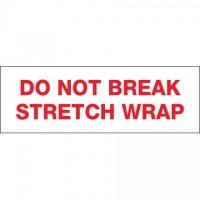 "Do Not Break Stretch Wrap Tape, 2"" x 110 yds., 2.2 Mil Thick"
