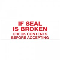 """If Seal Is Broken... Tape, 2"""" x 55 yds., 2.2 Mil Thick"""