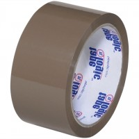"Tan Carton Sealing Tape, Economy, 2"" x 55 yds., 1.9 Mil Thick"
