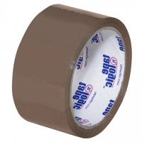 "Tan Carton Sealing Tape, Economy, 2"" x 55 yds., 1.6 Mil Thick"