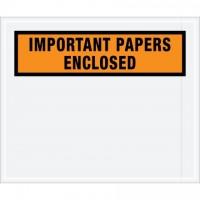 """Important Papers Enclosed"" Envelopes, Orange, 10 x 12"""