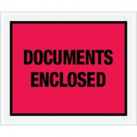 """""""Documents Enclosed"""" Envelopes, Red, 10 x 12"""""""