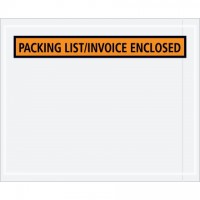 """Packing List/Invoice Enclosed"" Envelopes, Orange, 4 1/2 x 5 1/2"""