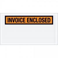 """""""Invoice Enclosed"""" Envelopes, Orange, 5 1/2 x 10"""""""
